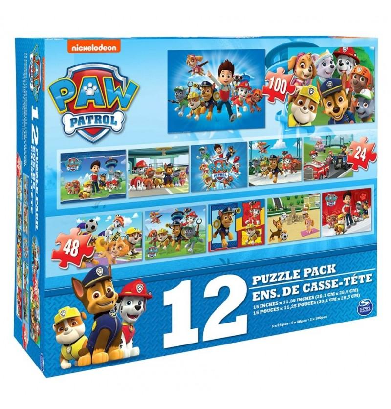 Paw Patrol 12 Puzzles...